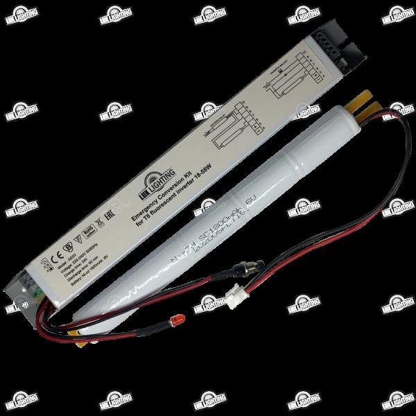 Блок аварийного питания для люминесцентных светильников Т8 18-58W 6V 1800mAh Ni-cd 1h