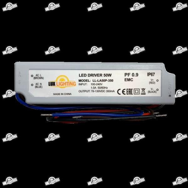 Драйвер для светодиодов LL-LA50P-350 (78- 130V 350mA PFC) IP67